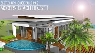 Sketchup Speed build -  Modern Beach House 1(Today I'm back designing another house in Sketchup. I've finally found out how to adjust terrain in Sketchup, so I'm making use of that knowledge in this video., 2015-02-26T18:49:33.000Z)