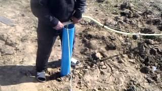 Дом из Газобетона день 09 Обработка фундамента битумной мастикой.(, 2014-11-07T09:49:10.000Z)
