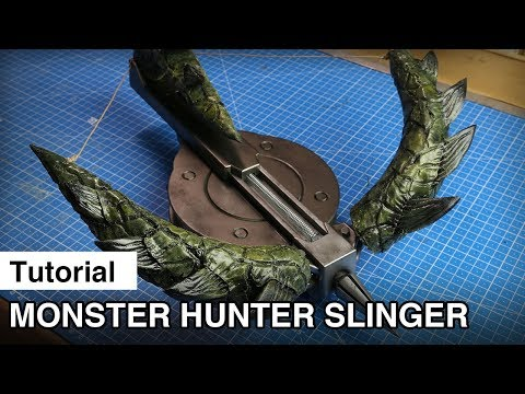 Fully Functional 3D Printed Slinger - Monster Hunter World Cosplay