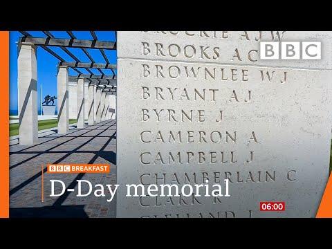 D-Day anniversary: New Normandy memorial @BBC News live 🔴 BBC