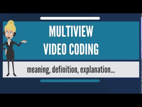 What is MULTIVIEW VIDEO CODING? What does MULTIVIEW VIDEO CODING mean?