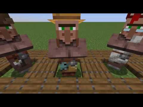 Minecraft 1 14 Snapshot 18w50a New Villager Skins Youtube