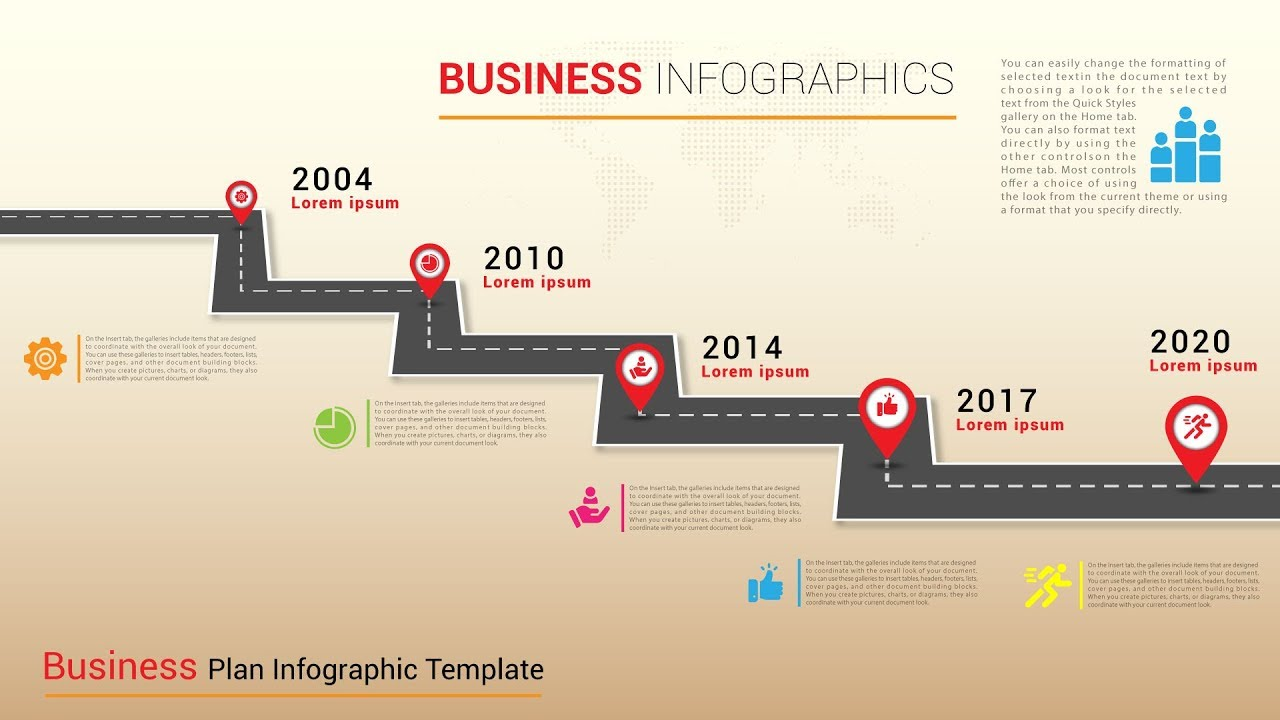 Timeline Business Infographics Roadmap Design Template ...
