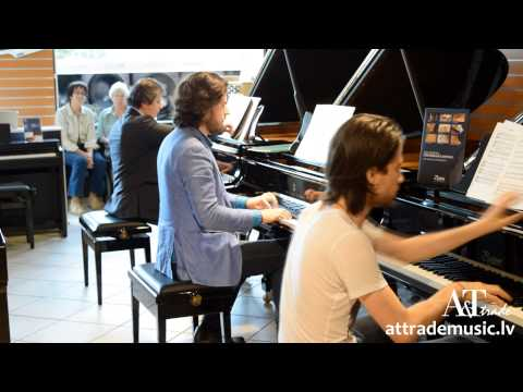 Osokin family playing Steinway and Boston pianos at A&T Trade