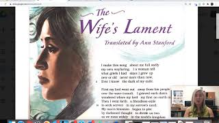 """""""The Wife's Lament"""" Instructional Video"""
