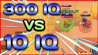 10 IQ or 300 IQ in Brawl Stars | Pro Gameplay | Funny Moments , Fails , Glitches Montage | 300 IQ