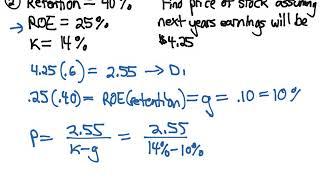CFA Level 1 - Dividend Growth Model & P/E Ratio