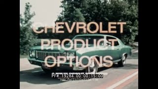 1970s CHEVROLET FACTORY OPTIONS FOR AUTOMOBILES   8 TRACK TAPES & POSITRACTION  19284