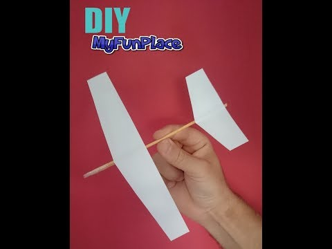 How To Make A Paper Glider - DIY Easy Tutorial