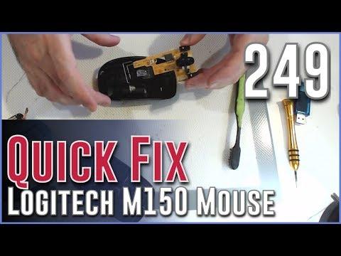 #249 QuickFix  - Logitech Mouse M150 (MK220) Erratic Wheel Fix