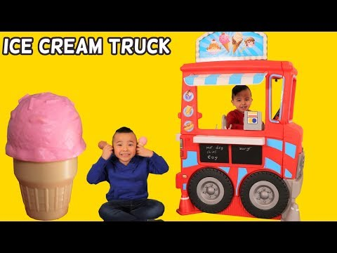 ICE CREAM FOOD TRUCK Kids Pretend Play Cooking Fun With Ckn Toys