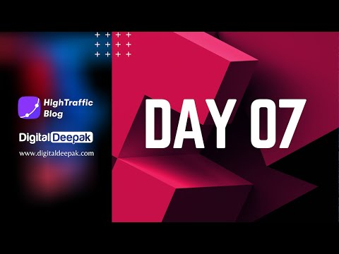 HighTraffic Blog - Day 7 (Publishing a SEO optimised article with Royalty Free Images)