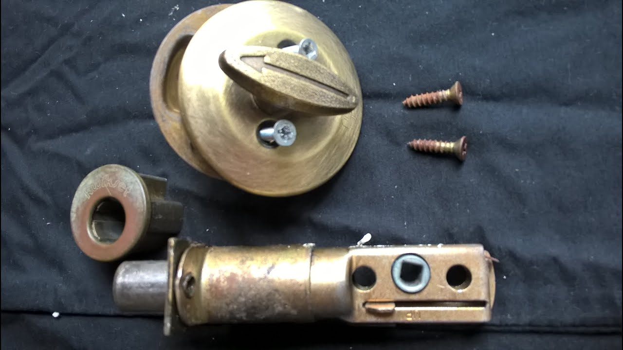 how to take apart a deadbolt cylinder