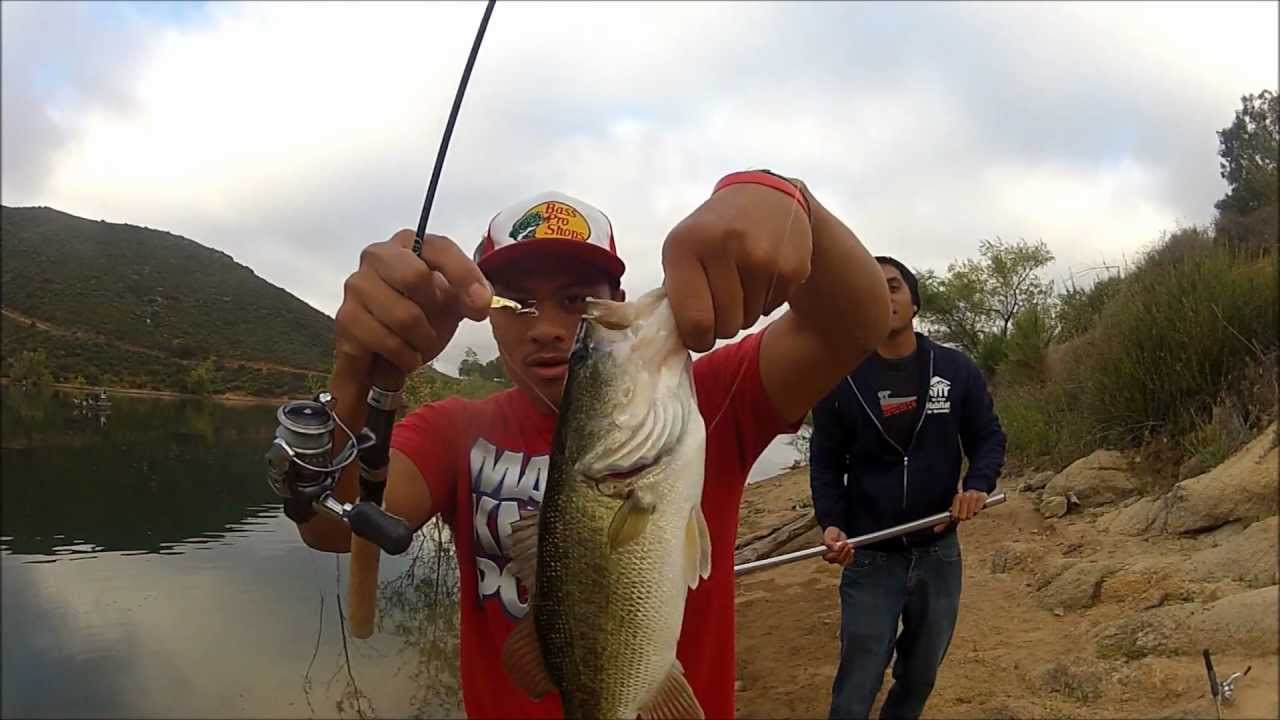 Lake poway bass fishing youtube for Youtube bass fishing