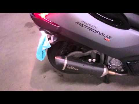 Peugeot Metropolis RS / LeoVince EVO II Level One Nero KALT