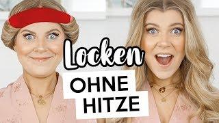 WOW 😱DIESE LOCKEN OHNE HITZE 😍einfach, schnell & über Nacht  | Kleinstadtcoco
