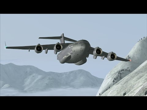 FSX C-17 VR-934 Low Level Flight over Alaska [AWESOME REALISM+GRAPHICS]