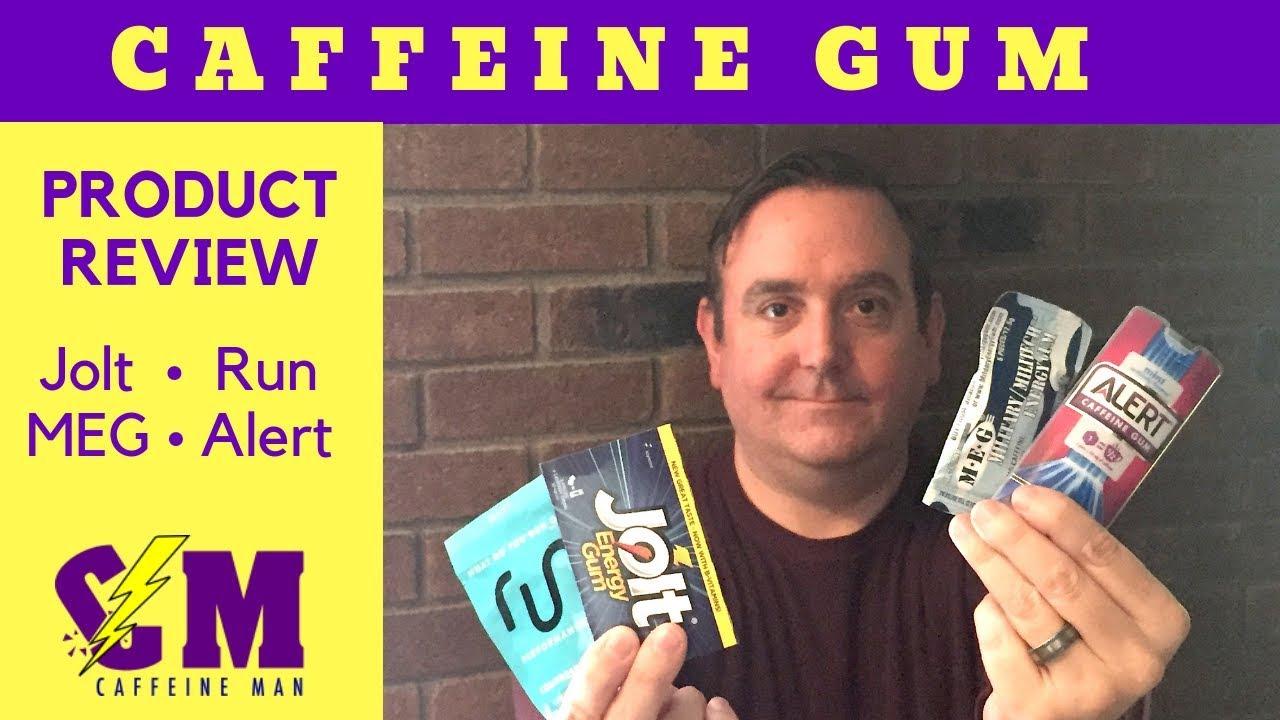 Caffeine Gum Product Review  Jolt, Alert, Military Energy Gum & Run