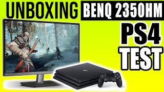 Unboxing BENQ VZ2350HM IPS and Testing it on PS4