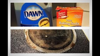 Removing Tough Stains off Glass Stove Top
