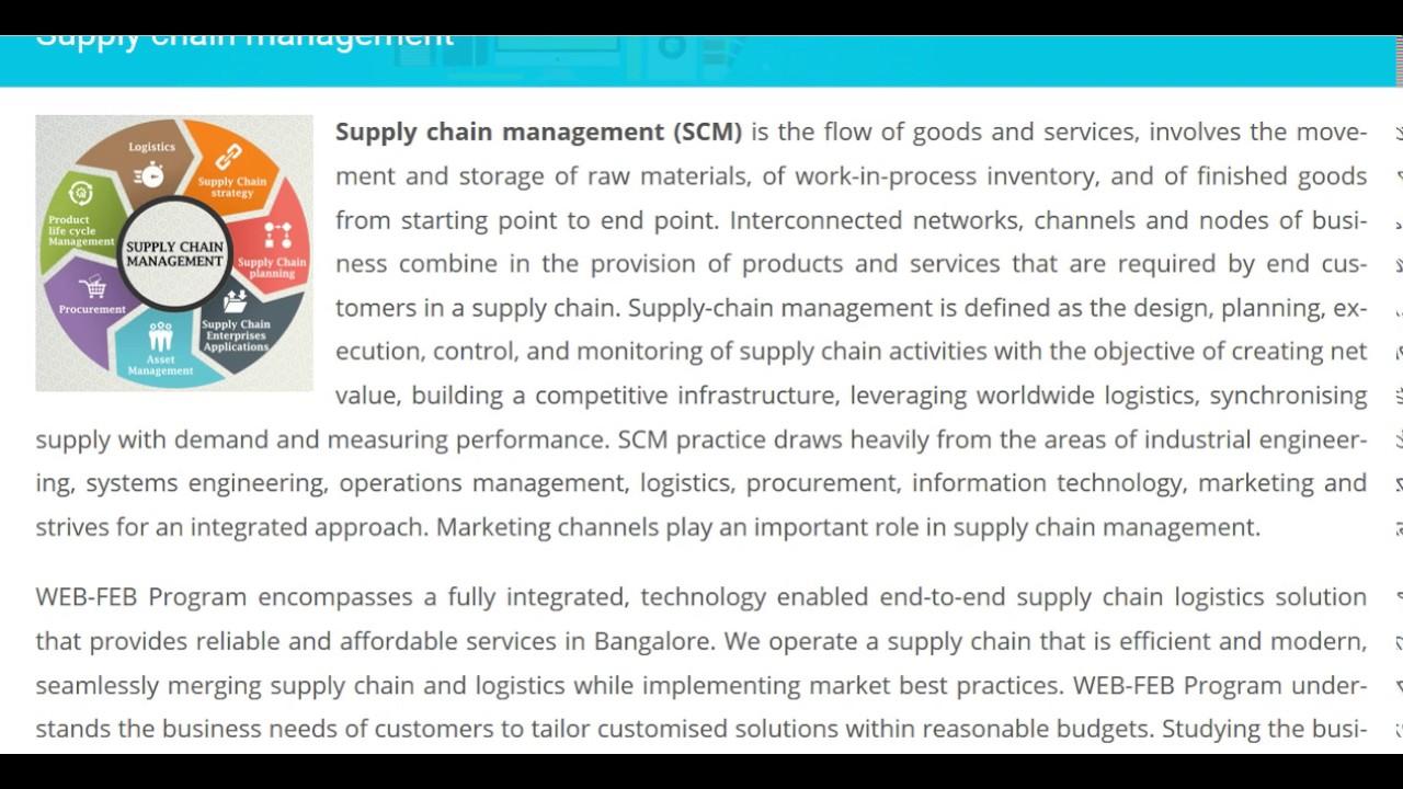 Best Supply Chain Management | Supply chain management in Bangalore