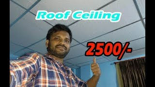 Ceiling Install Full Video | How to Install Thermocol Roof Ceiling 12*11 | 2500/- Rupess Only