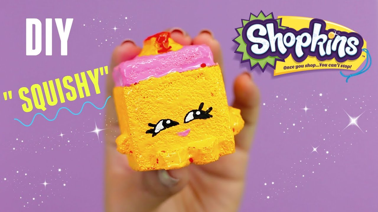Diy Squishy Cake : DIY Rare Shopkins Season 2 Carrie Carrot Cake Toy Craft Squishy How to make your own - YouTube