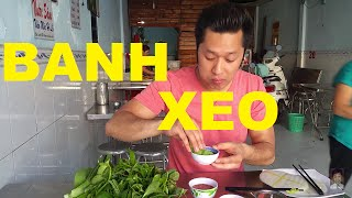 Vietnamese Food BANH XEO Saigon Vietnam 2016