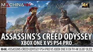 ASSASSIN'S CREED ODYSSEY 4K XBOX ONE X VS PS4 PRO ¿DONDE LUCE MEJOR? | TEST EN OLED TV LG B7