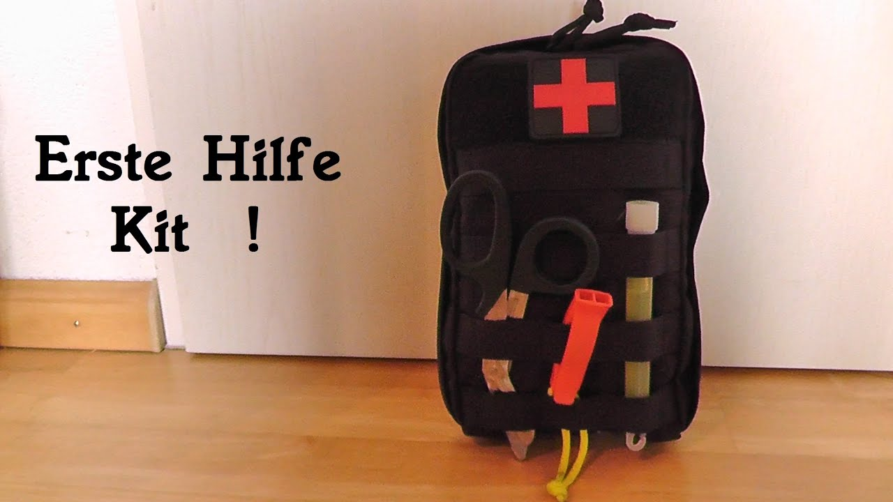 erste hilfe kit first aid kit vorstellung. Black Bedroom Furniture Sets. Home Design Ideas