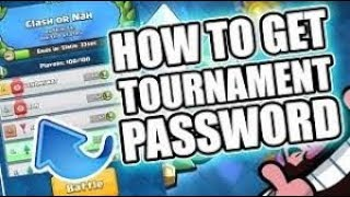 How To Join Password Protected Tournaments  Free 2000 Cards Tournament  Clash Royale