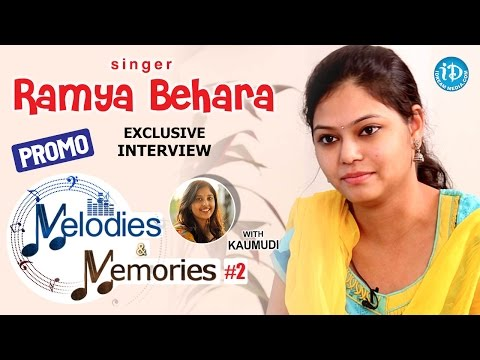Singer Ramya Behara Exclusive Interview - PROMO || Memories & Melodies #2