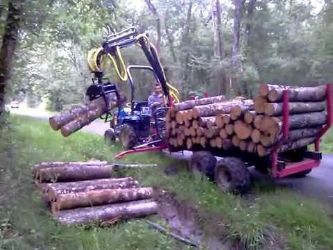 remorque forestiere micro tracteur youtube. Black Bedroom Furniture Sets. Home Design Ideas