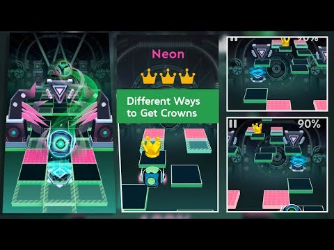 Rolling Sky Level 25 Neon - Different Crowns Ways   SHA