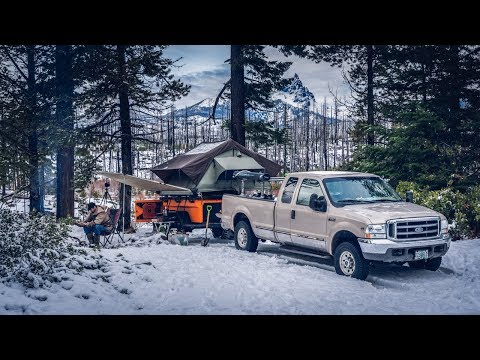 Camping - Snow in the Mountains