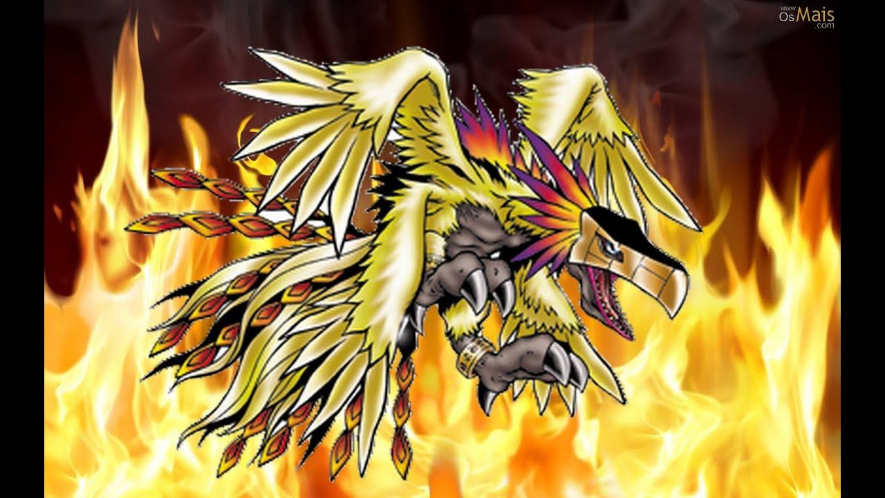 Análise Phoenixmon/Hououmon (Hawkmon line) Habilidades & Status ...