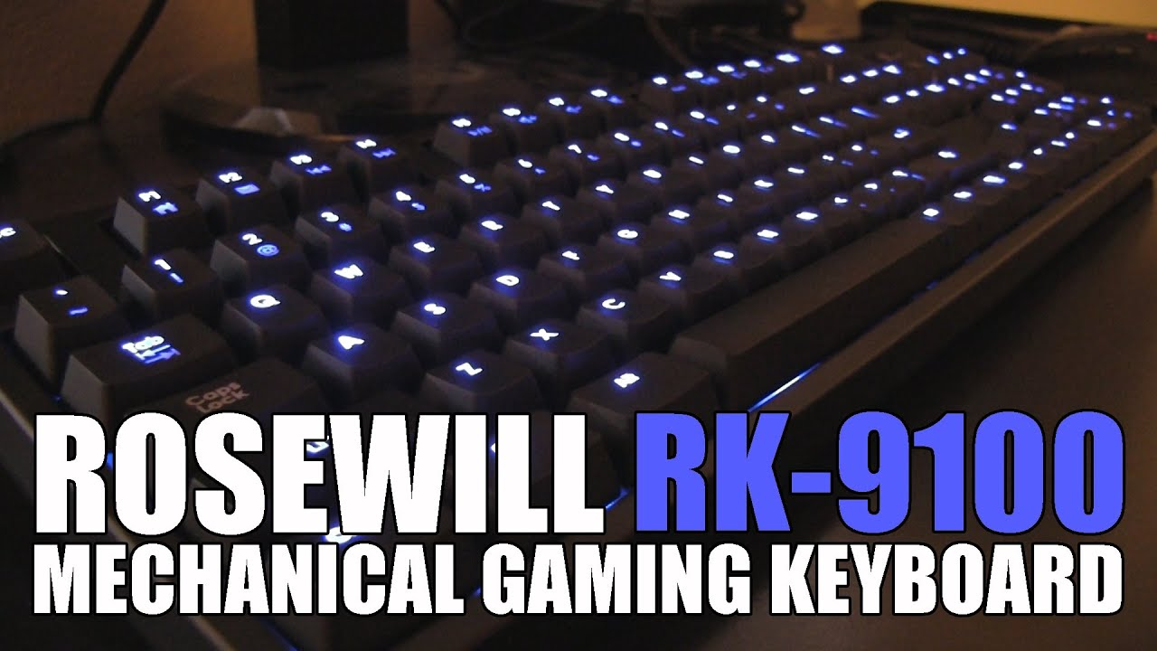 0fc0a1dba36 Rosewill RK-9100 Mechanical Gaming Keyboard Review - YouTube
