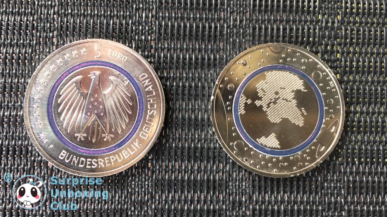 5 Münze Neue 5 Euro Planet Erde Mit Blauen Polymer Ring
