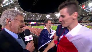 L'interview déjantée et surréaliste cette nuit de Pierre-Antoine Bosse, champion du monde du 800 m !