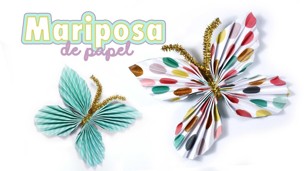 C mo hacer una mariposa de papel para decorar f cil y for Como decorar una torta facil y rapido