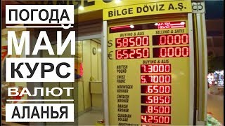 Туция: Курс валют. Туристический трамвайй. Набережная ночь. Погода в Аланье. Май 2019