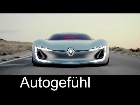 Renault TREZOR concept car driving shots - Autogefühl