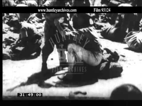 Japanese surrender in Hong Kong, 1945.  Archive film 93124