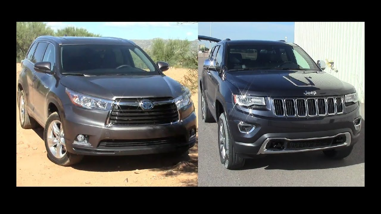 Fuel Economy   2015 Jeep Grand Cherokee Diesel Vs Toyota Highlander Hybrid    YouTube