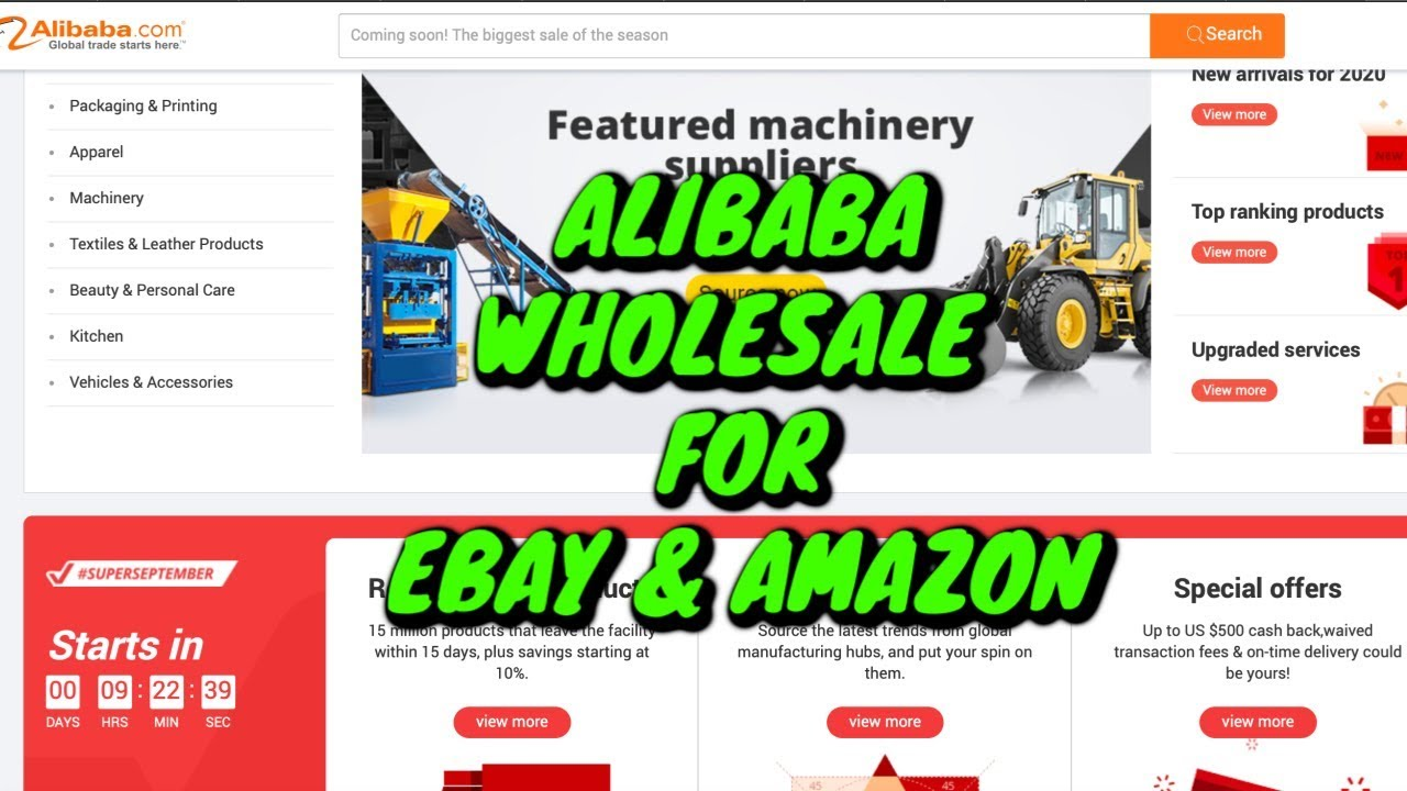 How To Buy Bulk Inventory From Alibaba To Sell On Ebay Amazon Youtube
