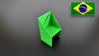 Origami: Cadeira - Instruções em Português BR