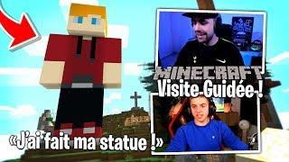 Michou me fait une visite guidée du serveur Team Croûton Minecraft !