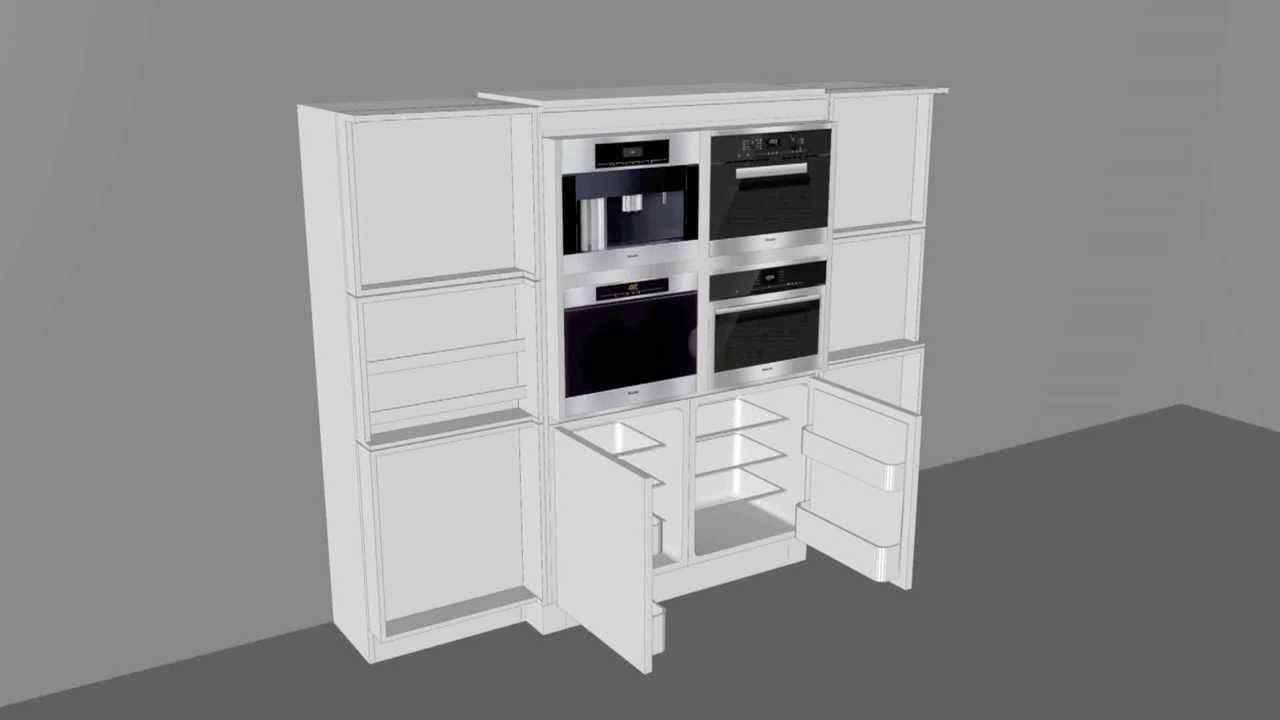 Designer Küchenschrank / Funktionen - YouTube