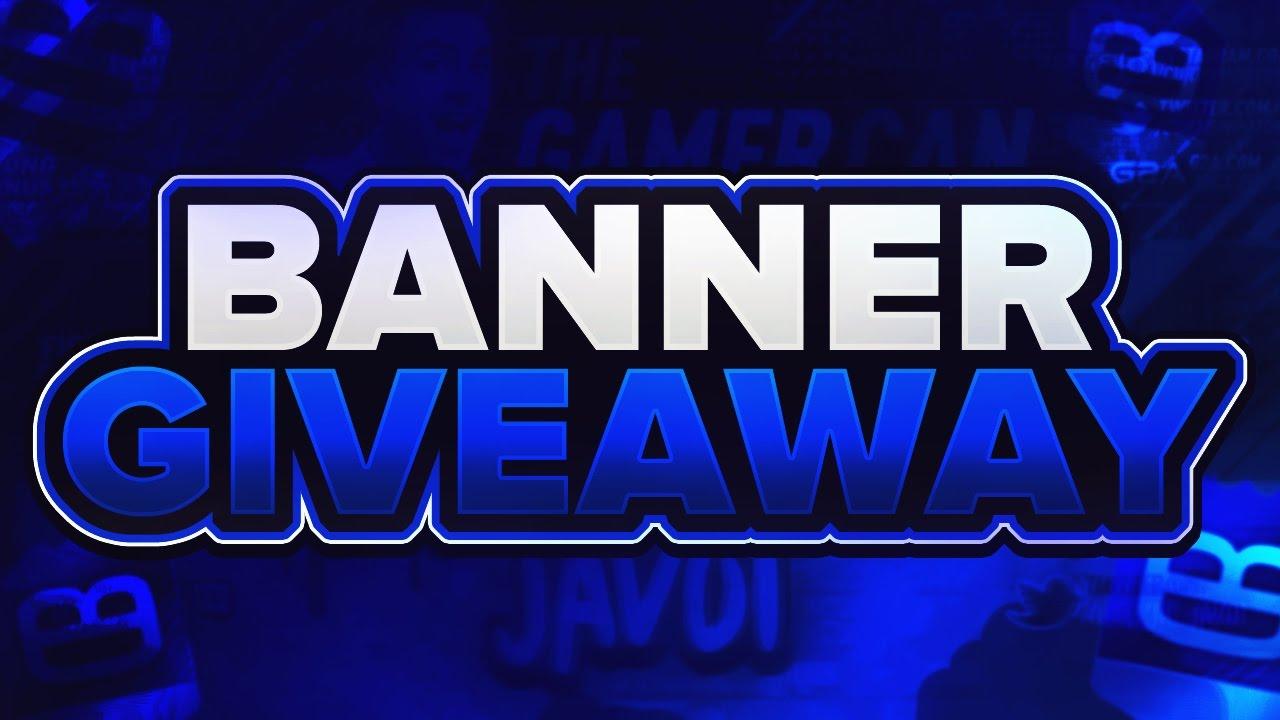custom youtube banner giveaway channel art giveaway free channel art banner speedart
