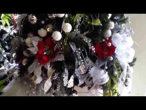 Decoracion arboles de navidad 2017 plateados rojo parte 9 - Decoracion de arboles de navidad 2017 ...
